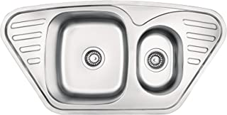Einbauspüle Edelstahl Spülbecken Küchenspüle Edelstahlspüle Waschbecken Mercato ZHM 0653