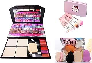 MY TYA The Color Icon Fashion Makeup Kit Big + Hello Kitty Premium Makeup Brushes + Makeup Sponges Set