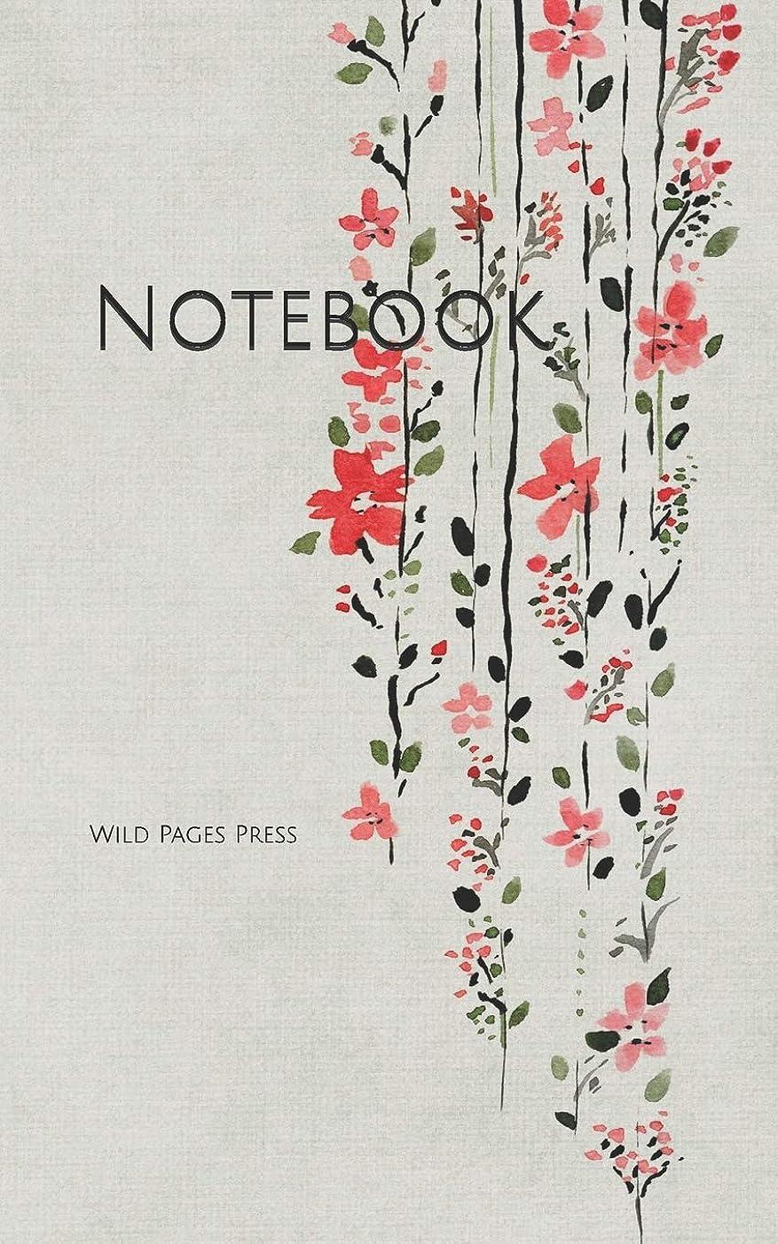 ピューそれぞれ建築Notebook: background scrapbook paper Asian flowers pink grey  Asia scrapbooking stationery