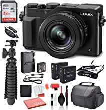 "$597 » Panasonic Lumix DMC-LX100 Digital Camera (Black) USA (DMC-LX100K) with Accessory Bundle Package Deal –SanDisk 32gb SD Card + Replacement Battery BLG10 (2CT) + 12"" Tripod + More"