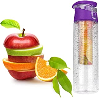 House of Quirk Evana Fruit Infuser Detox BPA-free Plastic Water Bottle , 700 ml, Transparent