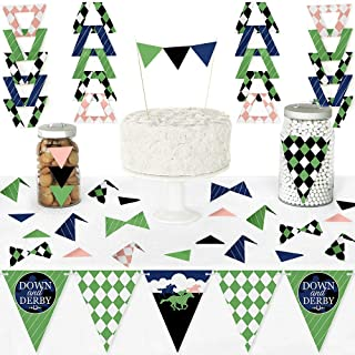 Big Dot of Happiness Kentucky Horse Derby - Diy Pennant Banner Decorations - Horse Race Party Triangle Kit - 99 Pieces