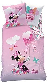 CTI Kinder-Wendebettwäsche Minnie Mouse Reenforzado - Rosa, 80x80 + 135x200 cm