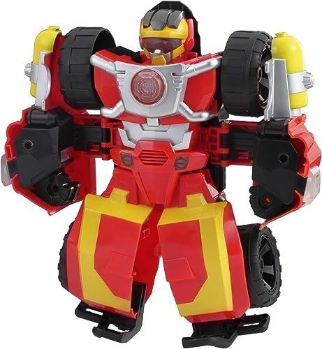 Transformers Rescue Bot - Robot Électronique Hot Shot Voiture 25cm - Jeu de 2 en 1