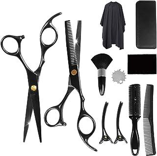 [11 PCS] tijeras peluqueria profesional, KarDition tijeras peluqueria, set peluqueria para mujeres, hombres, niños, mascotas, adecuado para salón, peluquería, uso doméstico