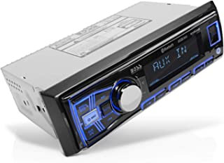 BOSS Audio Systems 611UAB Multimedia Car Stereo - Single Din, Bluetooth Audio and Hands-Free Calling, Built-in Microphone,... photo