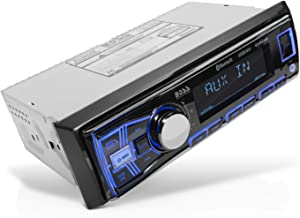 BOSS Audio Systems 611UAB Multimedia Car Stereo - Single Din, Bluetooth Audio and Hands-Free Calling, Built-in Microphone,...