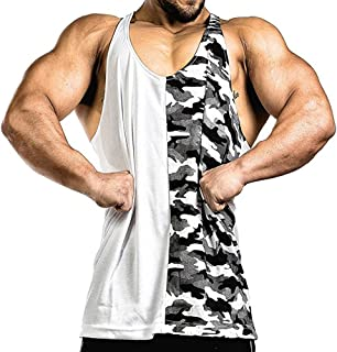 Cuifutang Mens Stringer Bodybuilding Fitness Muscle Workout Gym Tank Top Singlet