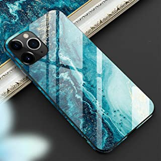 ZENTIYO Luxury Tempered Glass Case For Iphone 12 Pro Max Mag Safe Anti Fall Border Printed Abstract Art Ultra Thin Light D...