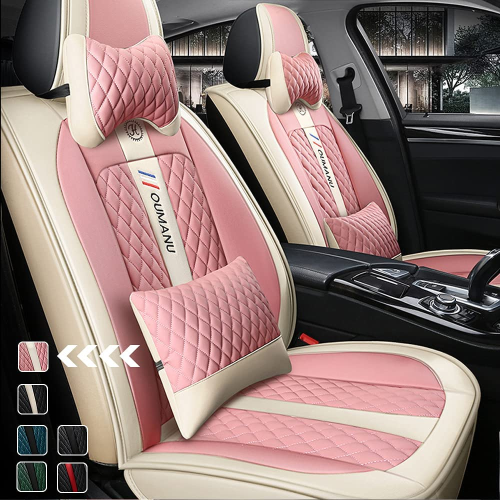 OFFicial site 2 Seat Luxury Car Covers Automotiv Albuquerque Mall Leather with Waterproof