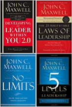 John Maxwell Collection 4 Books Set (Developing the Leader Within You 2.0, 21 Irrefutable Laws of Leadership, No Limits [H...