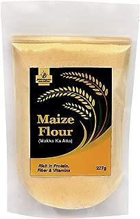Jioo Organics Maize Flour/Makki ka Atta/Corn Flour Pack of 227 Grams
