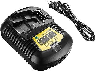 FirstPower DCB101 Battery Charger 12V-20V MAX Li-Ion for All DEWALT Li-Ion Battery DCB201-2 DCB201 DCB200 DDCB181 DCB180 DCB120 etc