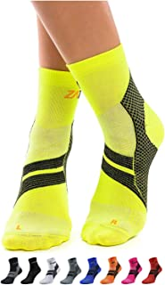 ZaTech Plantar Fasciitis Sock, Ankle Compression Socks with Arch Support