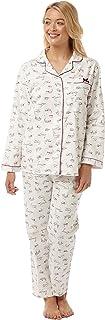 Marlon Ensemble de Pyjama Col boutonné Femme Manches Longues