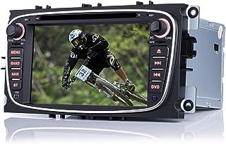 iFreGo 7 Zoll 2 din autoradio mit Navigation Für Ford Mondeo Focus 2008 2011 Für S Max 2008 2013,DVD GPS Navigation NAVI autoradio USB dab+, SD Bluetooth,Windows CE