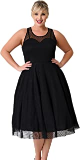 a26bf7c77d8 KILOLONE Womens 1950s Plus Size Dresses Christmas Party Vintage Retro  Bridesmaid Evening Lace Sleeveless Cocktail Dress
