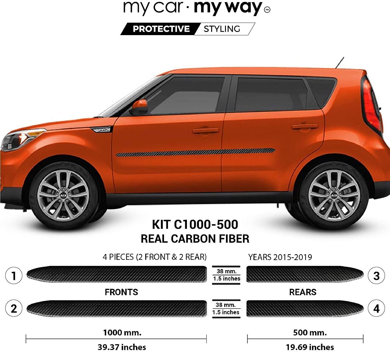 Fits Kia Soul 2015 2019 Hybrid Body Side Molding Cover Trim Door Protector Moldings Amazon Canada