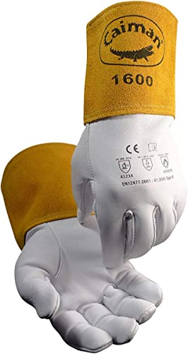 high quality Caiman 1600-4 lowest high quality Welders and Foundry Gloves Natural M outlet online sale