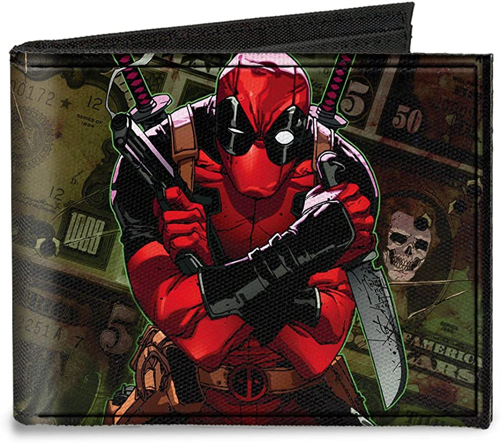 At the price of Ranking TOP8 surprise Buckle-Down Marvel Universe Canvas Bi-fold Wallet-Deadpool 2012#