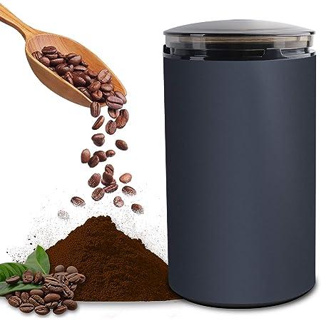 電動コーヒーミル コーヒーグラインダー ミルミキサー 粉末 コーヒー豆 ひき機 水洗い可能 豆挽き/緑茶/山椒/お米/調味料/穀物を挽く 一台多役 掃除ブラシ付 お手入れ簡単 高性能ミル