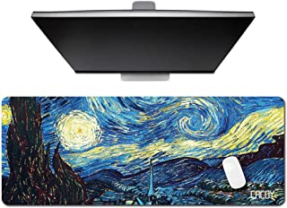 Cacoy Large 100x40cm Gaming Mouse Pads & Extra Desk Keyboard Pad Mat Stitched Edges Non-Slip Rubber Mousepads Ultra Thick 2mm