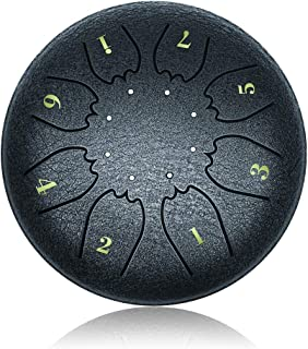 """""""OcarinaWind"""" 6.3 Inch C Major Steel Tongue Drum Navy Blue 8 Notes with Elegant Quality Drum Bag and Couple of Mallets,Goo..."""