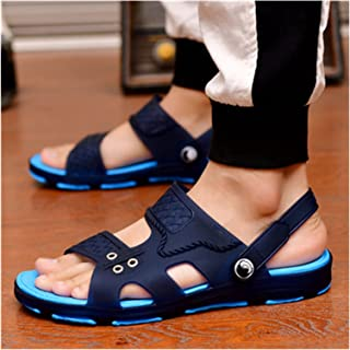 JINGGEGE Male Fashion Plus Size Home & Beach Sandals Men Casual Durable Anti Skid Peep Toe Summer Sandals Sandalias (Color...