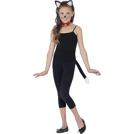 3Pcs Katzen Ohren Fliegen und Schwanz Kinder Cartoon Cosplay Kostüm Zubehör