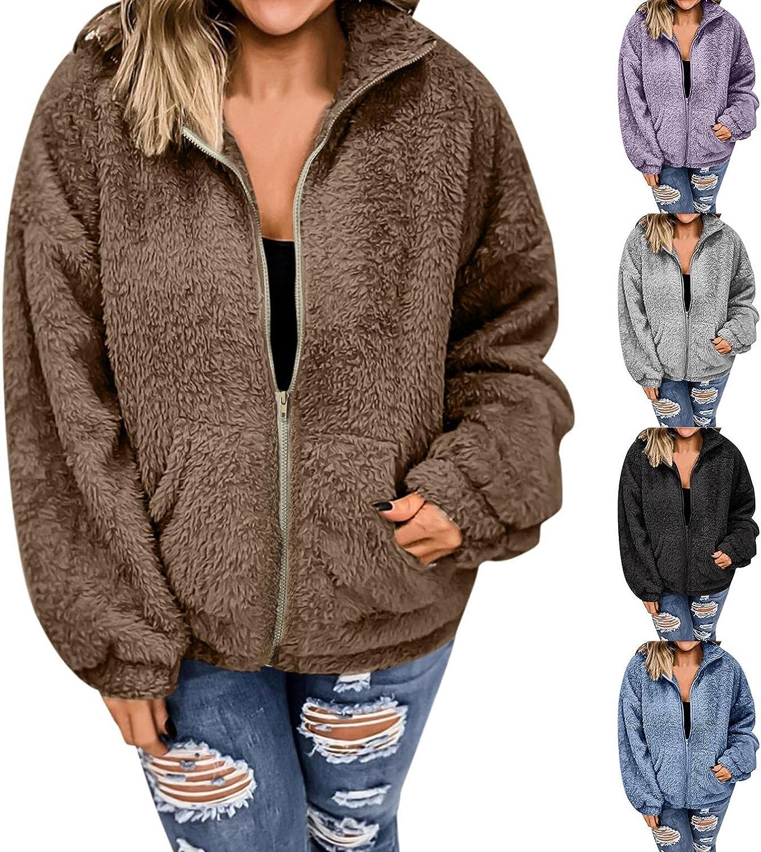 Womens Fleece Hoodies, Womens Winter Long Sleeve Fuzzy Fleece Wa