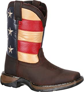 Durango Unisex DBT0159 Western Boot, Brown/Union Flag, 13.5 M US Little Kid