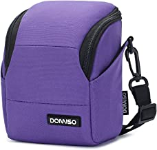 DOMISO Digital Camera Case Shoulder Bag for Compact System Mirrorless Camera SONY A6500 / CANON EOS / OLYMPUS / NIKON 1 J5 COOLPIX, Purple