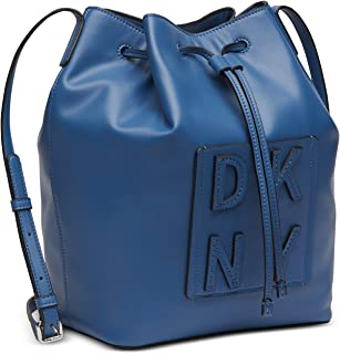 DKNY Tilly Stack Drawstring Bucket, Blue, Medium