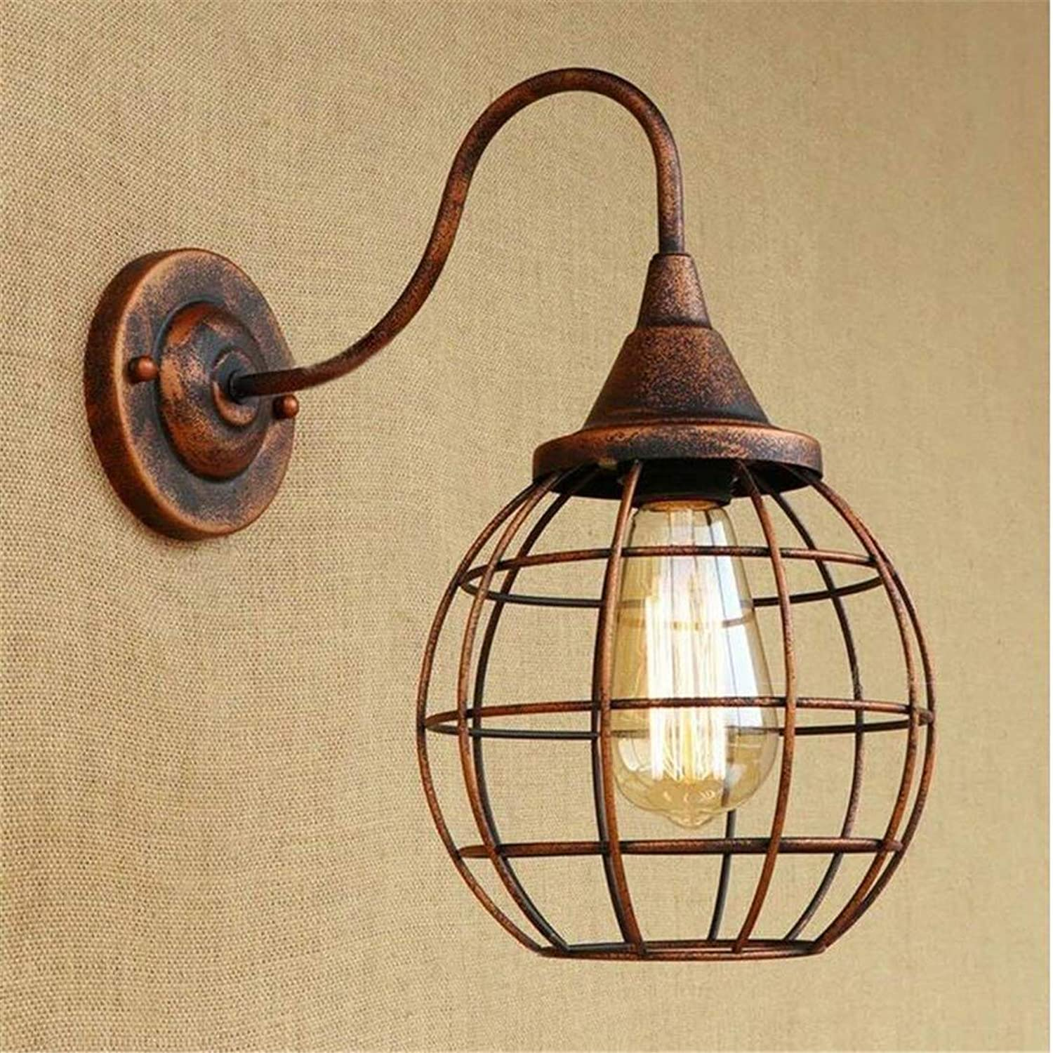 Led Wandleuchte Kronleuchterled Wall Light Chandelierwall Light Industrial Style With Wrought-Iron Lamp