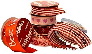 Morex Ribbon 6-Pack Valentine Love Variety Bobbin Ribbon