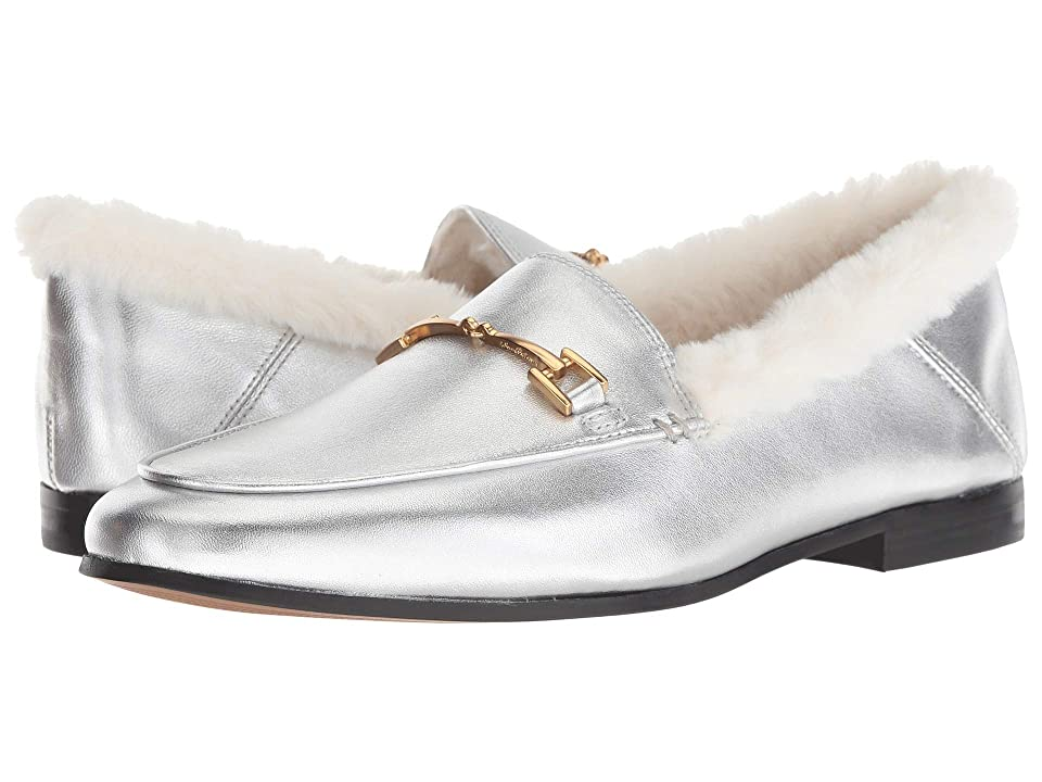Sam Edelman Loraine (Soft Silver/Modern Ivory Soft Metallic Sheep Leather/Short Plush) Women