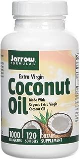 Jarrow Formulas Coconut Oil 100% Organic Extra Virgin, 1000 mg, 120 Softgels