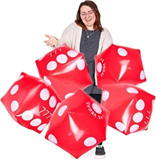"""13"""" Jumbo Inflatable Dice Multipack 