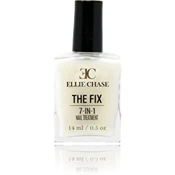 Ellie Chase 7 in 1 Nail Treatment 0.5 oz Contains Peptides, Vitamin E, Violet Extract, Oils, Amino Acids, Hexanal – hydration, nutrition, strength, smoothing, hardening, protection, shine