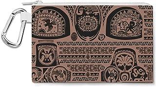 Maui Tattoos Inspired Disney Moana Canvas Zip Pouch - Multi Purpose Pencil Case Bag