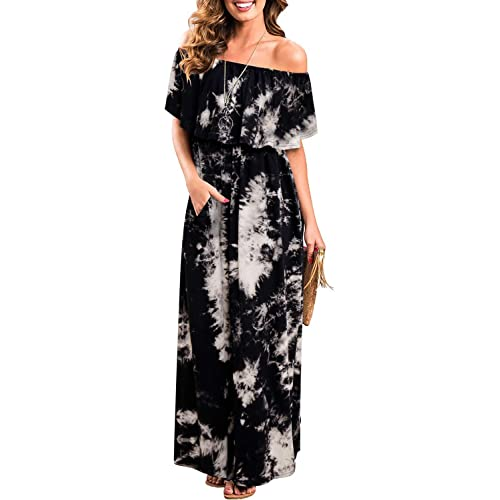Off The Shoulder Plus Size Maxi Dress: Amazon.com
