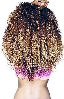 3 Tone Ombre Curly Hair Brazilian Deep Wave Bundles T1B/4/27 Ombre Curly Human Hair Extensions 14 14 14inches Unprocessed Brazilian Virgin Hair 3 Bundle Deals Honey Blonde Ombre Brazilian Hair Bundles