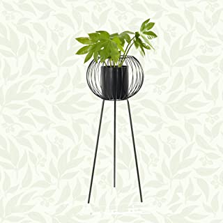 Decozen Metal Decorative Set of Planter With 1 Plastic Pot Decorative Flower Pot for Homes Offices Reception Patio High-quality Metal Planter with Stand Lovely Gift Stylish and Practical Planter