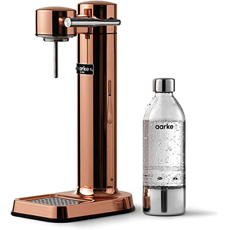 aarke Machine à Eau pétillante Carbonator 3 avec boîtier en acie Finition Cuivre r Inoxydable et Bouteille en Pet de qualité supérieure