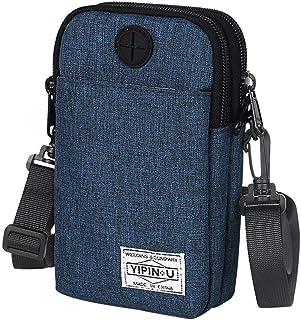 Jiyaru Passport Wallet with Zipper Strap Organizer Multiple Holder Document Bag for Travel Navy