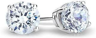 Solitaire 14k Gold Diamond Earrings 0.04CT to 0.60CT KLMN,I3/I4 (IGI Certified 0.10Ct onwards)
