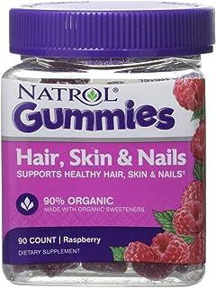 Natrol - Gomitas para el cabello, la piel y las uñas 90% Frambuesa orgánica