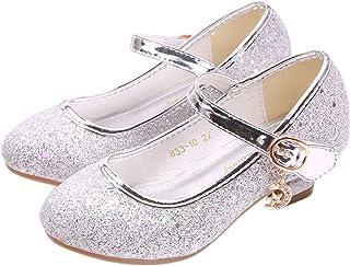 YOSICIL Niña Baile Zapatos de Tacón Elsa Frozen de Princesa Zapatos de Cumpleaño Fiesta,Playa,Vacaciones,Cosplay, Carnaval...