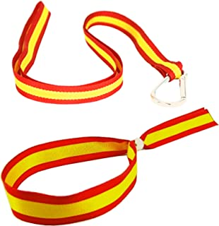HAND-PRO Pulsera Bandera de España Hombre Cinta Bandera España Pulseras de España Tela Cinta para Llaves españa: Amazon.es: Joyería