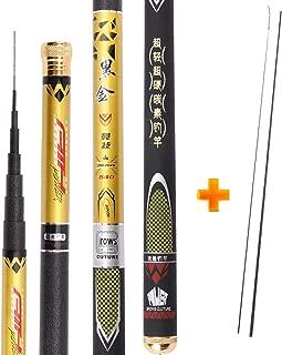 Richly Shop Super Light Hard 3.6m/4.5m/5.4m/6.3m/7.2m Telescopic Fishing Rod Carbon Fiber Hand Pole for Carp Fishing